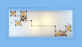 Накладные светильники (чертеж)